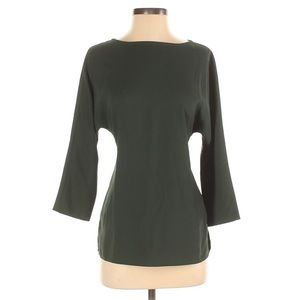 Club Monaco Olive GreenBelted 3/4 Dolman Sleeves Blouse Too Size XS